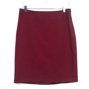 EUC The Limited Size8 Wine Red Cotton Pencil Skirt